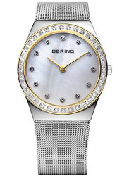 Bering Women's Mother Of Pearl Dial Stainless Steel Mesh Watch 12430-010