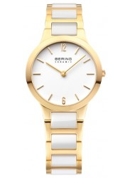 Bering Women's Ceramic White Dial Two-Tone Stainless Steel Watch 30329-751