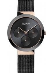 Bering Women's Ceramic Chronograph Black Dial Black Stainless Steel Watch 35036-166