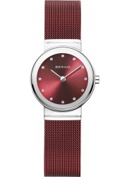 Bering Women's Classic Red Dial Red Stainless Steel Watch 10126-303