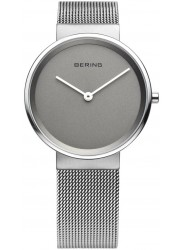 Bering Men's Classic Grey Dial Stainless Steel Mesh Watch 14539-077