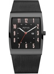 Bering Men's Solar Black Dial Black Stainless Steel Watch 16433-122