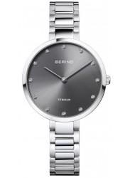 Bering Women's Titanium Grey Dial Silver Titanium Watch 11334-772