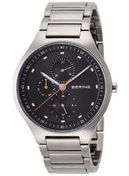 Bering Men's Titanium Chronograph Grey Dial Silver Titanium Watch 11741-702