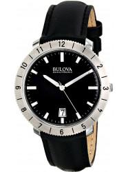 Bulova Men's Accutron II Moonview Black Leather Watch 96B205