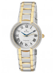 Bulova Women's Precisionist Fairlawn Diamond Bezel Watch 98R161