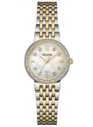 Bulova Women's Maiden Lane Diamond Two Tone Watch 98R211