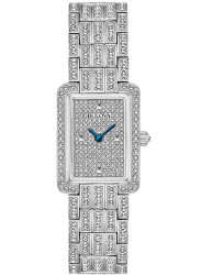 Bulova Women's Crystal Silver Dial Stainless Steel Watch 96L244