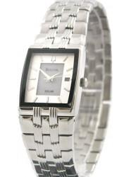 Bulova Women's Solar White Dial Stainless Steel Watch 96B005