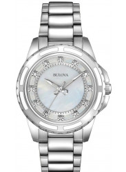 Bulova Women's Mother Of Pearl Dial Stainless Steel Watch 96P144