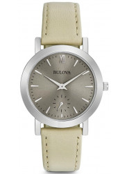 Bulova Women's Grey Dial Taupe Leather Strap Watch 96L233