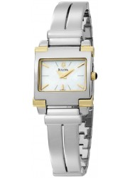 Bulova Women's Bangle Mother Of Pearl Stainless Steel Watch 98L002