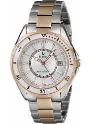 Bulova Women's Precisionist Silver Dial Two Tone Stainless Steel Watch 98M113