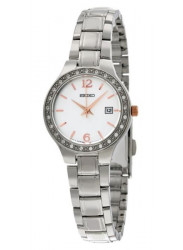 Seiko Women's Silver Dial Diamond Watch SUR769