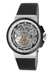 Kenneth Cole Men's New York Automatic Skeleton Dial Black Leather Watch 10022314