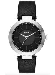 DKNY Women's Stanhope Black Dial Black Leather Watch NY2465