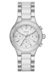 DKNY Women's Chambers White Dial Two Tone Watch NY2497