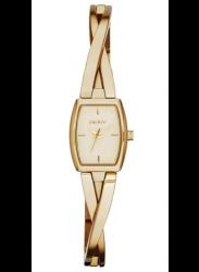 DKNY Women's Crosswalk Gold Dial Gold Tone Watch NY2313