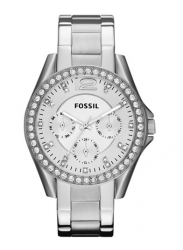 Fossil Women's Riley Silver Tone Watch ES3202