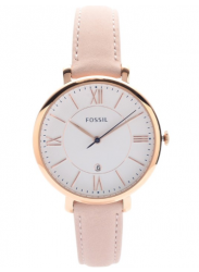 Fossil Women's Jacqueline Pink Leather Watch ES3988