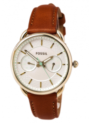 Fossil Women's Tailor Brown Leather Watch ES4006