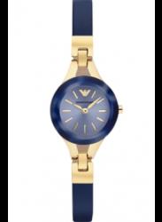 Emporio Armani Women's Navy Leather Watch AR7393