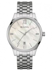 Bulova Women's Mother Of Pearl Dial Watch 96P161