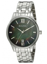 Bulova Women's Black Dial Watch 96P162