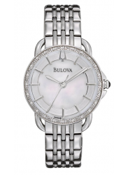 Bulova Women's Diamond Mother Of Pearl dial Stainless Steel Watch 96R146