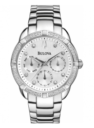 Bulova Men's Diamond Silver Dial Watch 96R195
