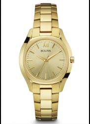 Bulova Women's  Champagne Dial Gold Tone Watch 97L150