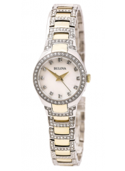 Bulova Women's Crystal Two Tone Watch 98L198