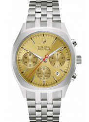 Bulova Men's Accutron II Chronograph Gold Dial Silver Tone Watch 96B239
