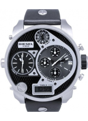 Diesel Men's Chronograph Black Leather Watch DZ7125