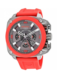 Diesel Men's BAMF Chronograph Red Silicone Watch DZ7368