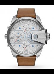 Diesel Men's Uber Chief Brown Leather Watch DZ7374