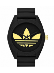 Adidas Men's Santiago Black Dial Black Rubber Watch ADH2712