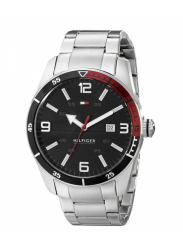 Tommy Hilfiger Men's Black Dial Stainless Steel Watch 1790916
