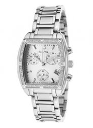 Bulova Women's Highbride Chronograph Silver Tone Watch 96R163