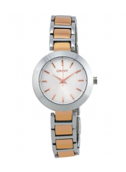 DKNY Women's Silver Dial Rose Two Tone Watch NY2136