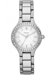 DKNY Women's Chambers White Dial Stainless Steel Watch NY2220