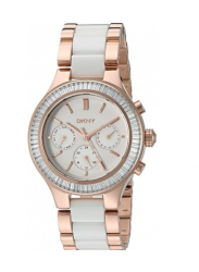 DKNY Women's Chambers Ceramic Stainless Steel Watch NY2498