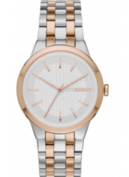 DKNY Women's White Dial Two Tone Watch NY2464