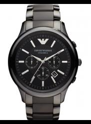 Emporio Armani Men's Ceramica Chronograph Black Dial Watch AR1451
