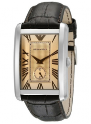 Emporio Armani Men's Amber Dial Brown Leather Watch AR1605