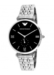 Emporio Armani Men's Retro Black Dial Watch AR1676