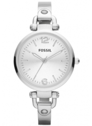 Fossil Women's Georgia Silver Dial Stainless Steel Watch ES3083