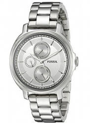 Fossil Women's Chelsey Silver Tone Stainless Steel Watch ES3355