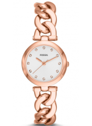 Fossil Women's Gold Dial Gold Tone Watch ES3392