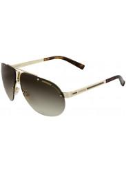 Carrera Unisex Aviator Half-Rim Brown Sunglasses CARRERA 34 J5G/DB